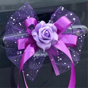 decoration-de-voiture-pour-mariage-avec fleurs