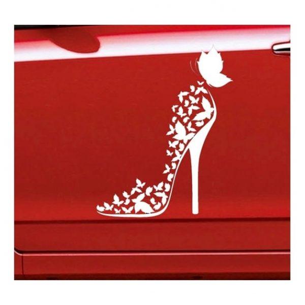stickers-de-voiture-pour-femme-talon-haut-sur-voiture-rouge