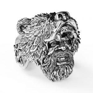 bague-biker-homme-avec-tete-d-ours-couleur-argent