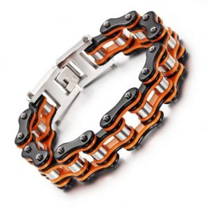 bracelet-chaine-de-moto-orange-lateralise