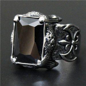 bague-homme-pierre-noire-vue-de-profil