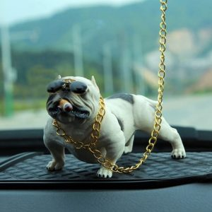 decoration-voiture-bulldog-blanc